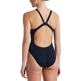 Nike Swim Hydrastrong Solids Fastback One Piece Badpak Dames, midnight navy